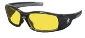 MCR-CREWS BOLD SWAGGER SAFETY GLASSES - AMBER LENS