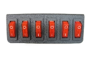 6 SWITCH PANEL - ON/OFF ILLUMINATED SWITCHES